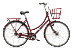 Batavus Bronx 7 gear - 2018 - damecykel i rød