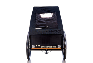 Bugatti kaleche i sort til Christiania bikes ladcykel