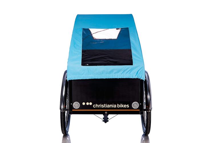 Bugatti kaleche i blå til Christiania bikes ladcykel