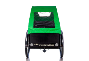 Bugatti kaleche i grøn til Christiania bikes ladcykel