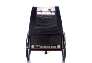 Bugatti Panorama kaleche i sort til Christiania bikes ladcykel