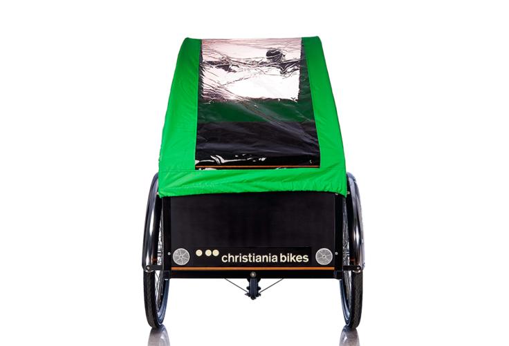 Bugatti Panorama kaleche i grøn til Christiania bikes ladcykel