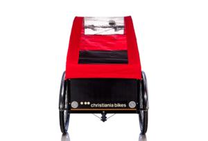 Bugatti Panorama kaleche i rød til Christiania bikes ladcykel