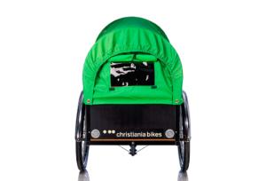 Prærie kaleche i grøn til Christiania bikes ladcykel