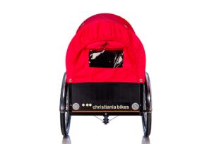 Prærie kaleche i rød til Christiania bikes ladcykel